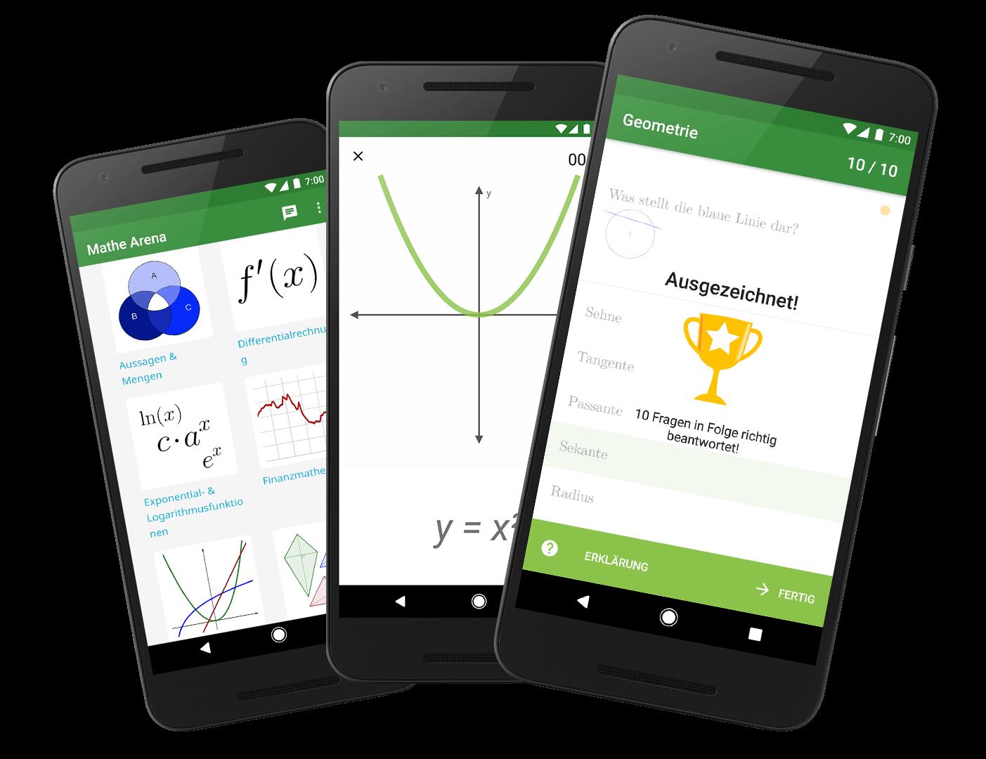 Features der Mathearena-App