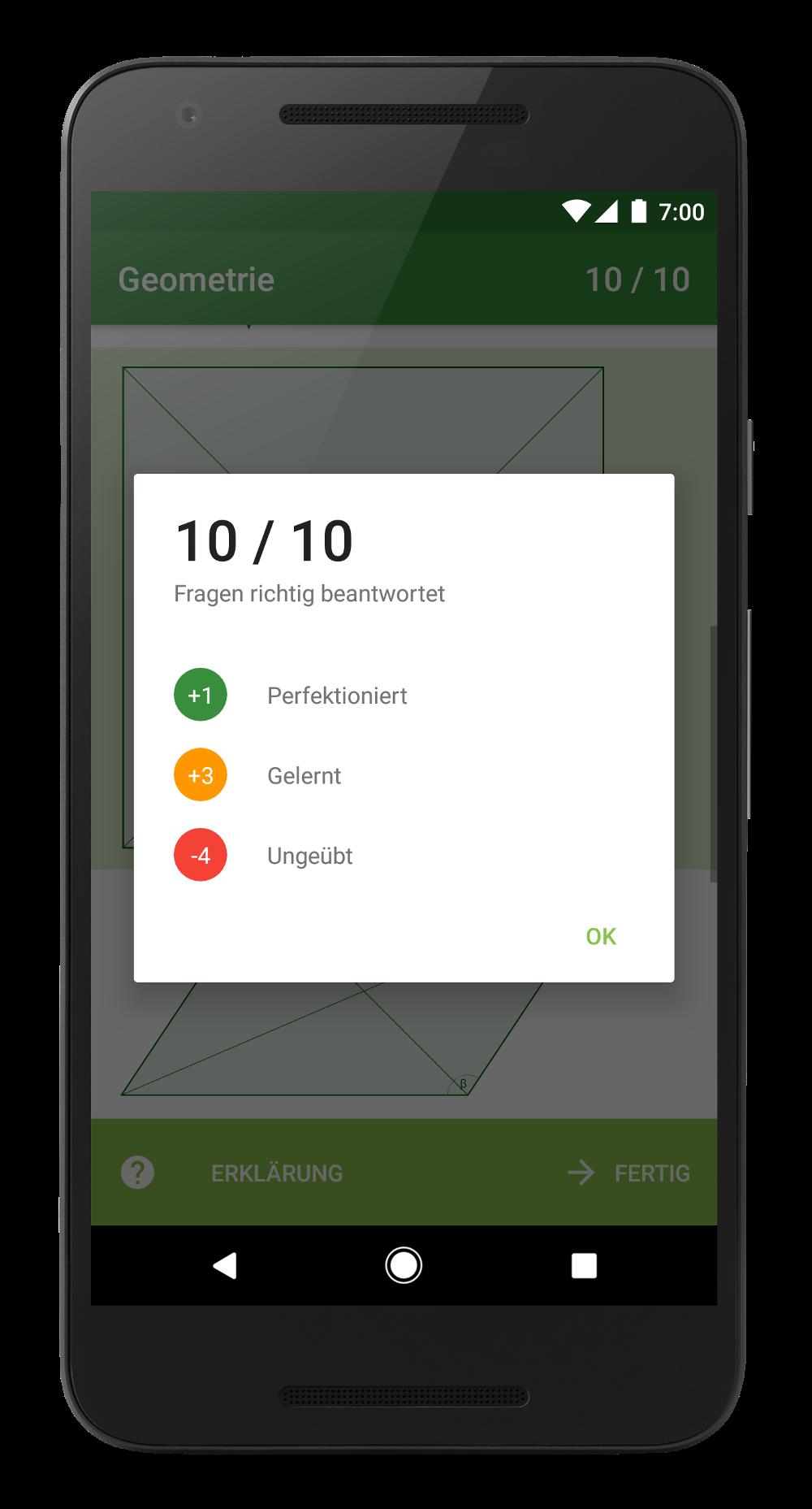 Das Ampel-System der Mathearena-App zeigt einfach und klar den aktuellen Status und Fortschritt